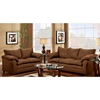 Gail Pillow Top Arm Loveseat Flat Suede Chocolate Dcg Stores ~ Leather Sofa Pillow Top Arms