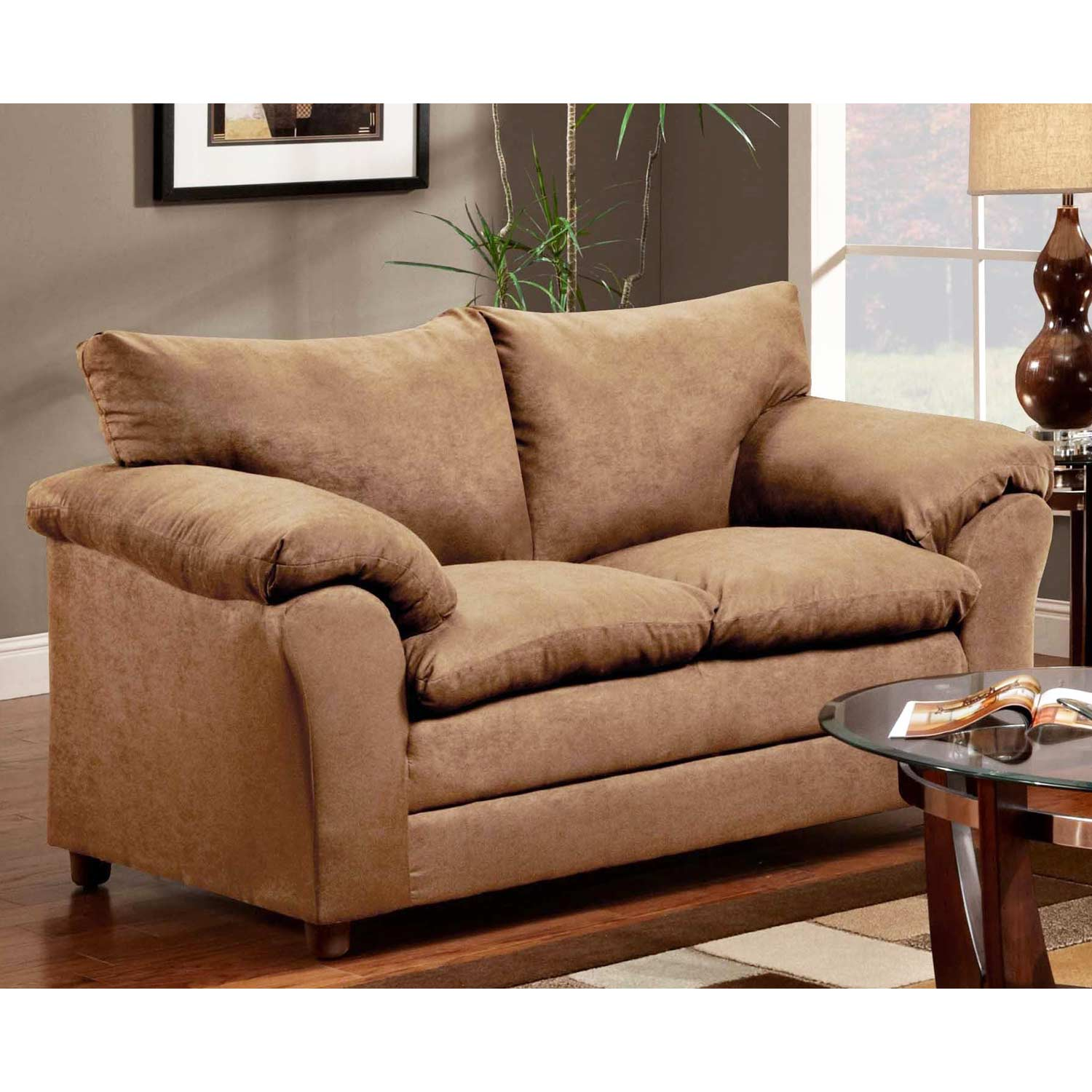 Gail Pillow Top Arm Loveseat Victory Lane Taupe Dcg Stores