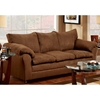Gail Pillow Top Arm Sofa - Flat Suede Chocolate - CHF-471150-S-FC