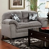 Joyce Padded Fabric Loveseat - Victory Lane Dolphin - CHF-471250-L-VLD