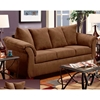 Kiersten Flared Arm Fabric Sofa - Flat Suede Chocolate - CHF-472000-S-FC