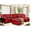 Rachel Tufted Ottoman - Contempo Red Upholstery - CHF-472400-O-CR