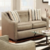Brittany Sloped Arm Loveseat Ons Stoked Pewter Fabric Chf 475440 L