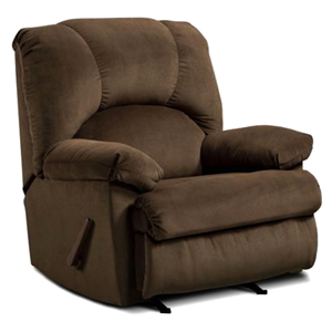 Charles Rocking Recliner Chair - Montana Chocolate Fabric