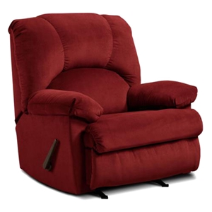 Charles Rocking Recliner Chair - Montana Garnet Fabric