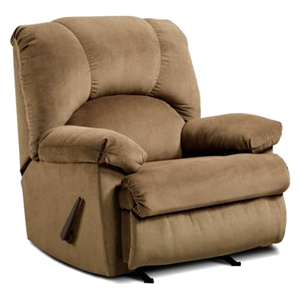 Charles Rocking Recliner Chair - Montana Latte Fabric