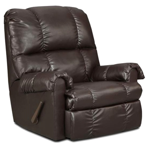 Grace Leather Rocker Recliner Chair - Tufting, Apache Chocolate