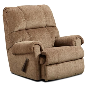 Grace Fabric Rocker Recliner Chair - Tufting, Tahoe Bark