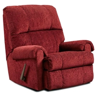 Grace Fabric Rocker Recliner Chair - Tufting, Tahoe Burgundy