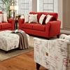 Gloucester Mariner Flame Fabric Loveseat - CHF-FS4801-L