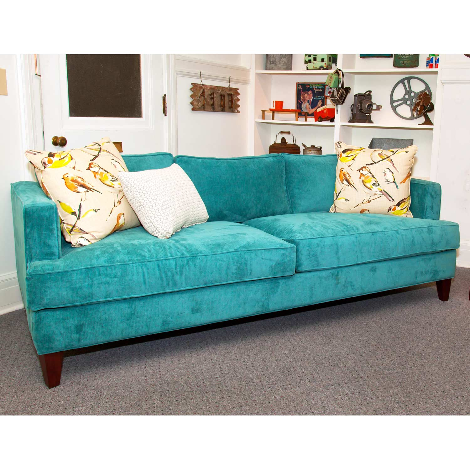 Ashley Track Arm Sofa - Wrigley Oasis Fabric - CHF-50135-S