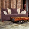 Regina Track Arm Sofa - Velvety Churchill Basalt Fabric - CHF-50145-S