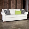 Gordon Round Arm Sofa - Block Feet, Newberry Peat Fabric - CHF-50160-S