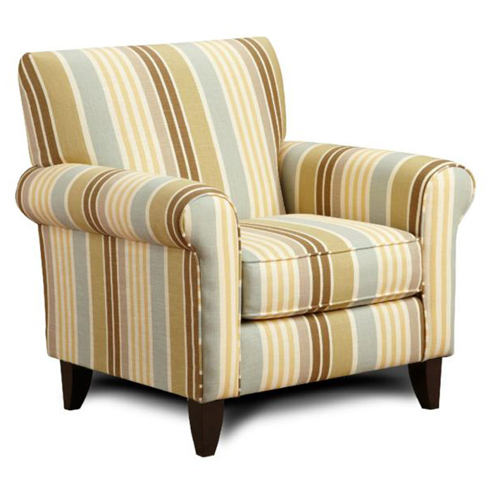 Hudson Multicolored Stripe Fabric Chair Dcg Stores