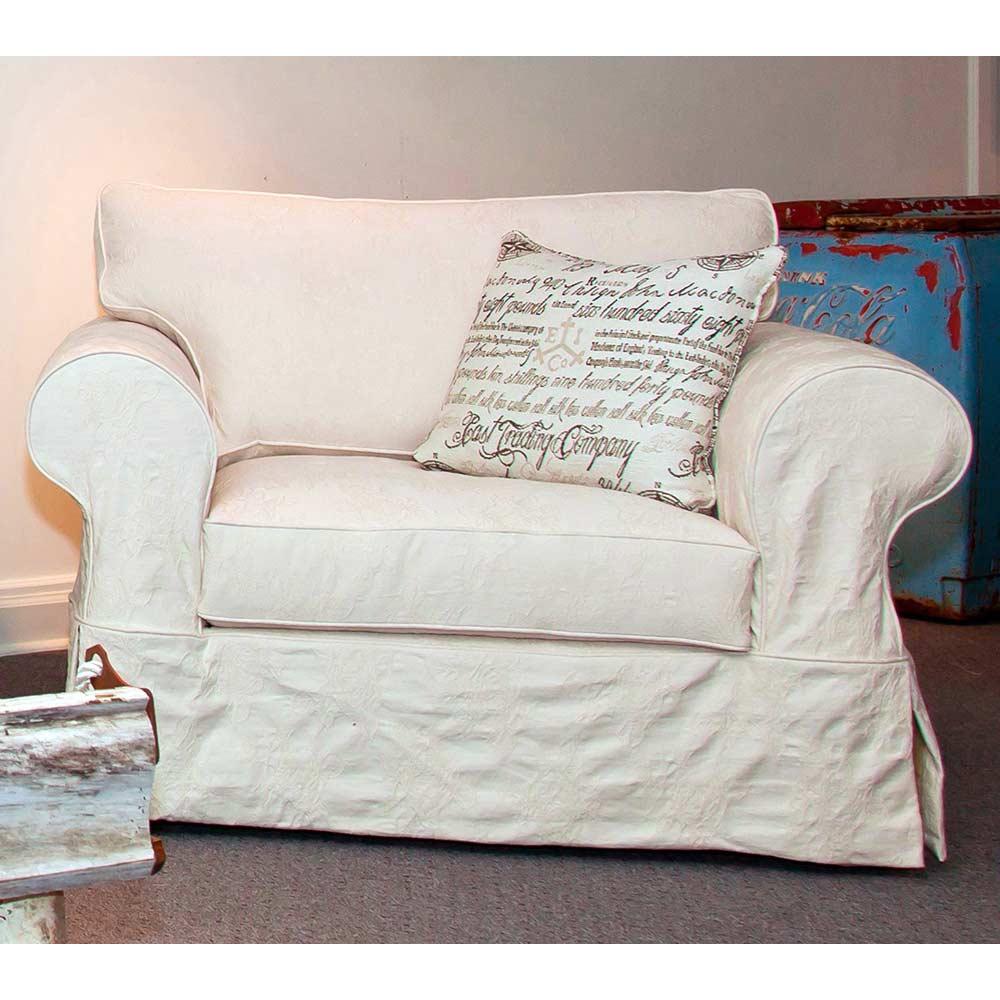 Gordon Skirted Slipcover Rolled Arm Chair