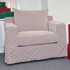 Regina Slipcover Track Arm Chair - Trance Hot Tamale Fabric - CHF-50215-CH
