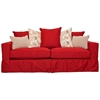 Regina Slipcover Track Arm Sofa - Ranger Twill Flame Fabric - CHF-50215-S