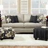 Daisy Contemporary Sofa - Mystery Stone Fabric - CHF-5242A3