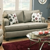 Dandelion Modern Loveseat - Luminous Pewter Fabric - CHF-526602