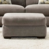 Pansy Upholstered Ottoman - Heather Seal Fabric - CHF-527816