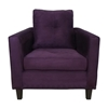 Heather Eggplant Living Room Sofa Set with Tufted Accents - CHF-5900-BE-SET