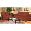 Heather Bulldozer Persimmon Orange Tufted Loveseat - CHF-5900-L-BP