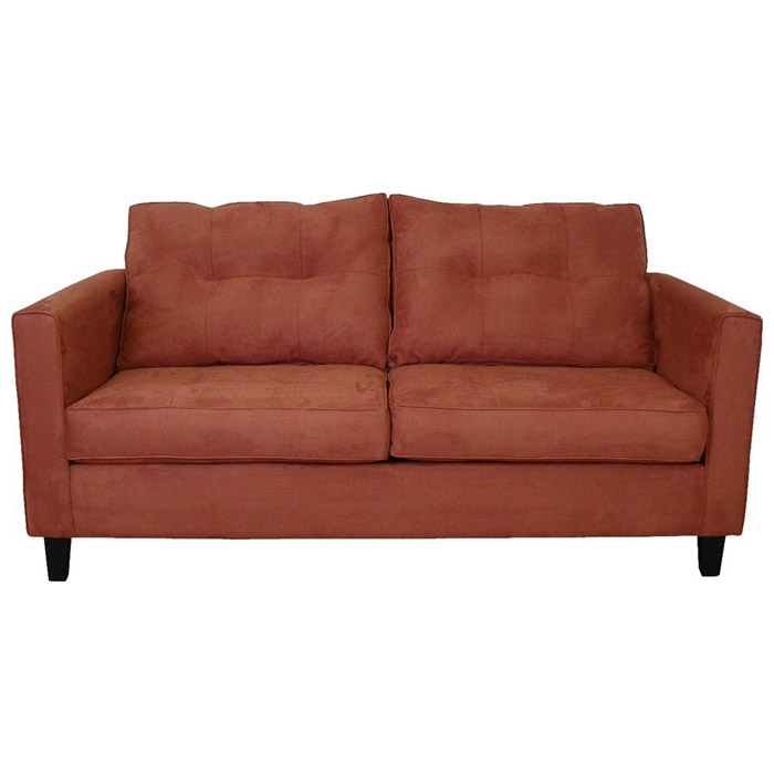 Heather Bulldozer Persimmon Orange Tufted Sofa - CHF-5900-S-BP