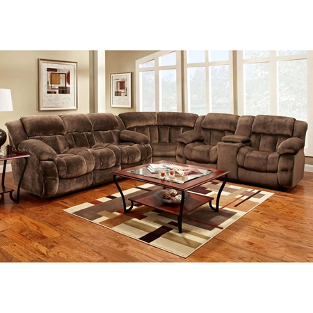 Charlotte Reclining Sectional Sofa Champion Chocolate Fabric Dcg Stores
