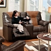 Greensboro Two-Toned Reclining Loveseat - Contrast Stitching - CHF-595150-59