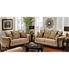Lily Rolled Arm Sofa - Pumpkin Feet, Delray Taupe Fabric - CHF-6000-S-DT