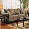 Lily Rolled Arm Sofa - Pumpkin Feet, Dream Java Fabric - CHF-6000-S
