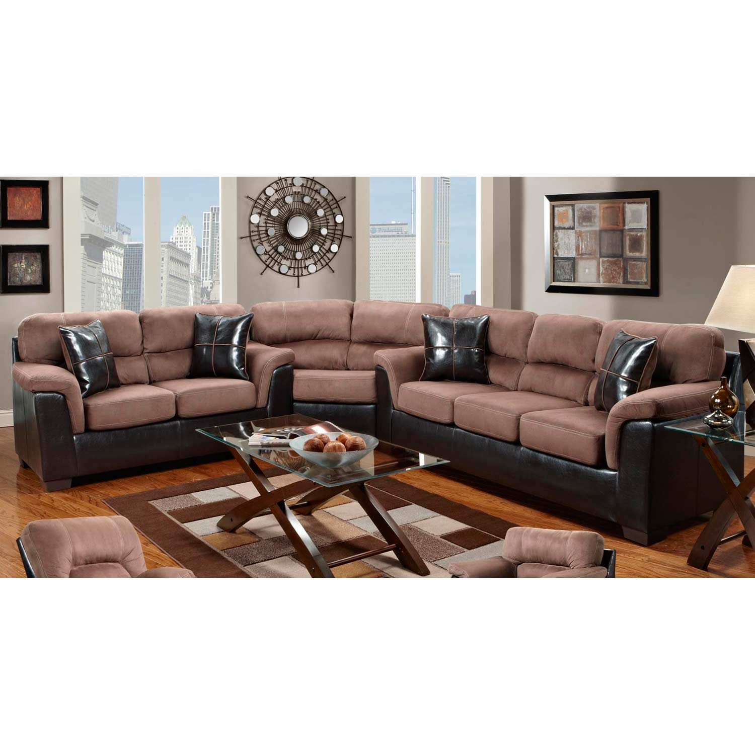 Laredo Sofa And Loveseat: Annabelle Two-Toned Sectional Sofa