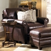 Lamesa Traditional Leather Chair - Rolled Arms, Stampede Coffee - CHF-62H025-10