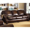 Socorro Traditional Leather Sofa - Hillsboro Prairie Meadows - CHF-62H039-30
