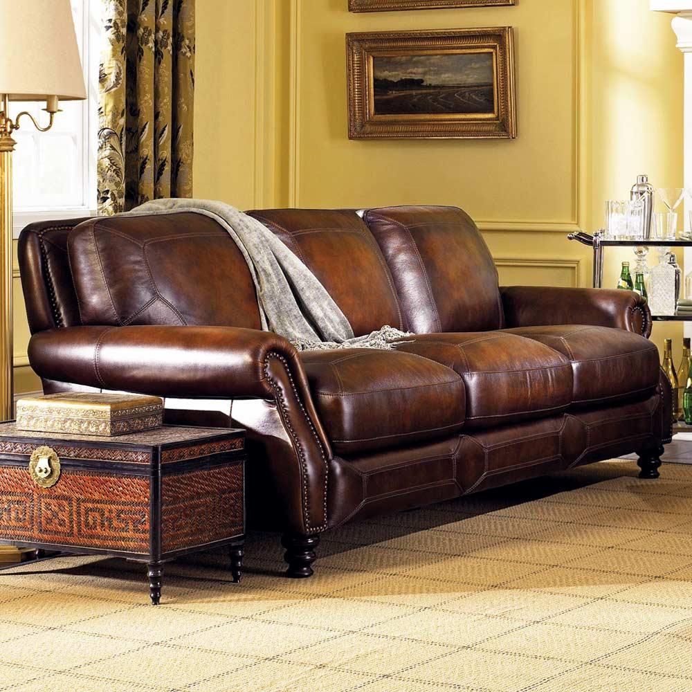 Abilene Rolled Arm Leather Sofa Hillsboro Prairie Meadows Dcg Stores