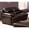 Midland Bustle Back Leather Loveseat - Longhorn Blackberry - CHF-62J335-20