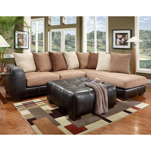 Phenomenal Landon Sectional Sofa Chaise Laredo Mocha Squirreltailoven Fun Painted Chair Ideas Images Squirreltailovenorg