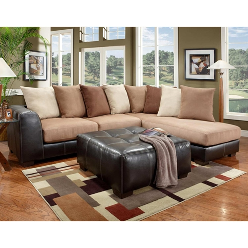 Laredo Sofa And Loveseat: Landon Sectional Sofa & Chaise - Laredo Mocha
