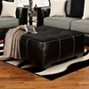 Landon Square Tufted Ottoman - Taos Black Upholstery - CHF-6355-TB