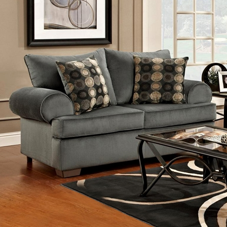 Wyatt round arm loveseat marshall steel fabric dcg stores for T furniture okolona ms