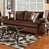 Wyatt Round Arm Sofa - Marshall Cocoa Fabric - CHF-6403-MC