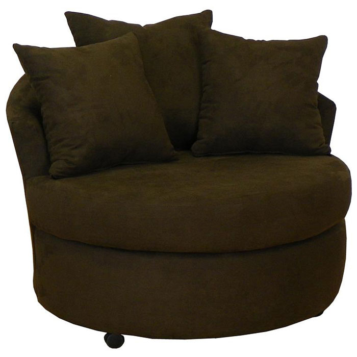Alexa Fabric Lounge Chair on Casters - CHF-650