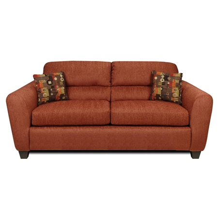 Linda Sofa Bustle Back Dream Terra Cotta Fabric Dcg Stores