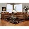 Payton Pillow Back Loveseat - Aruba Chocolate Microfiber - CHF-6702-AC