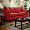 Payton Pillow Back Sofa - Red Brick Microfiber - CHF-6703-RB