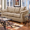 Payton Pillow Back Sofa - Sensations Camel Microfiber - CHF-6703-SC