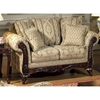 Serta Kelsey Living Room Sofa Set with Ornate Wood Carvings - CHF-KELSEY-SET
