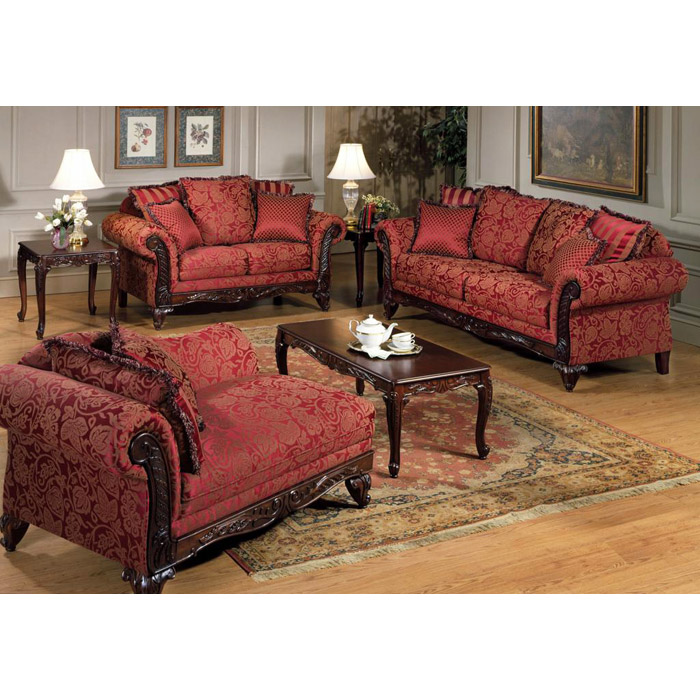 Serta Tai Victorian Style Loveseat And Sofa Set Chf
