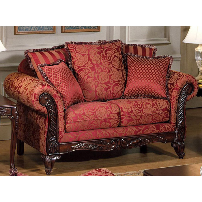 Serta Tai Victorian Style Loveseat With Rolled Arms