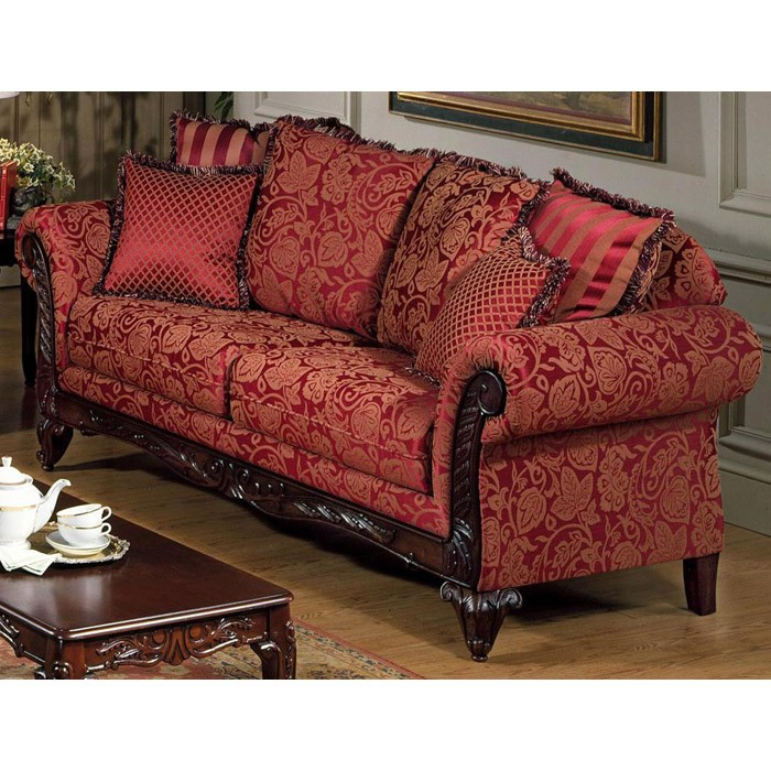 Serta Tai Victorian Style Sofa With Rolled Arms Dcg Stores